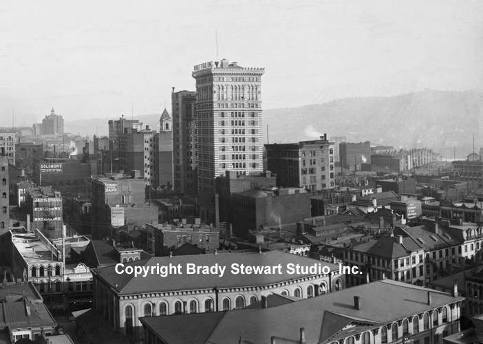 Historical Photographs of the Pittsburgh Skyline - 1904 (2/4)