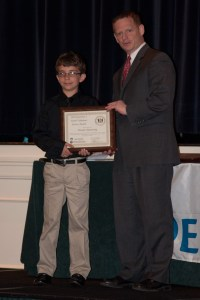 Getting my award yay!