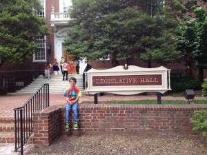Braeden Mannering at Legislative Hall