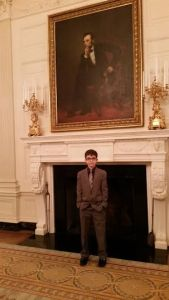 At the White House in the room with the big Abraham Lincoln painting.