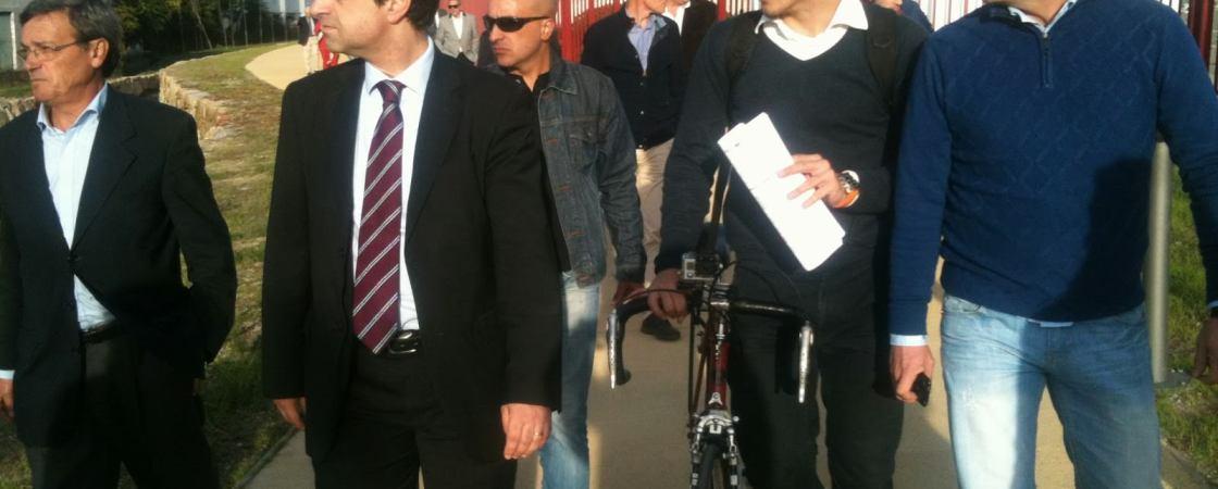Visita do Braga Ciclável com o executivo da CMB à Via Pedonal Ciclável do Rio Este