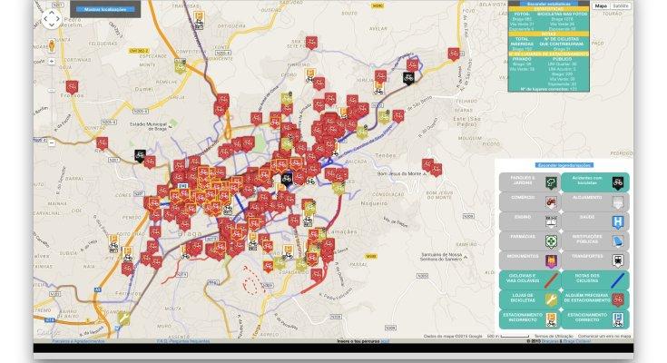 Mapa Braga Ciclável