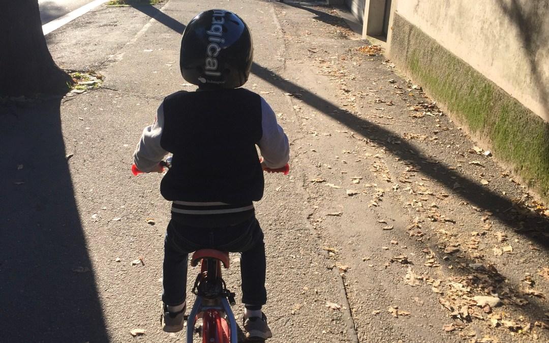 Para a escola, de bicla!