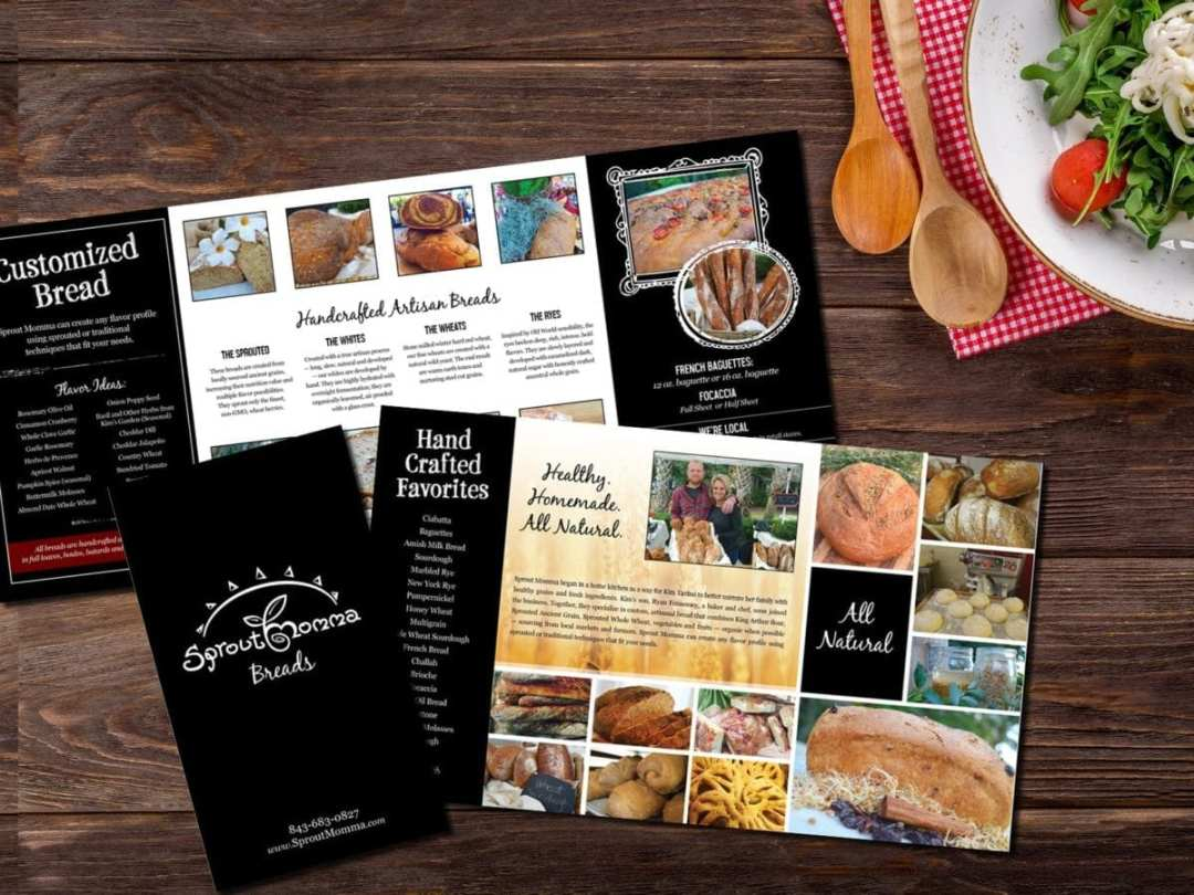 Sprout Momma Over-Sized Brochure with Double Parallel Fold