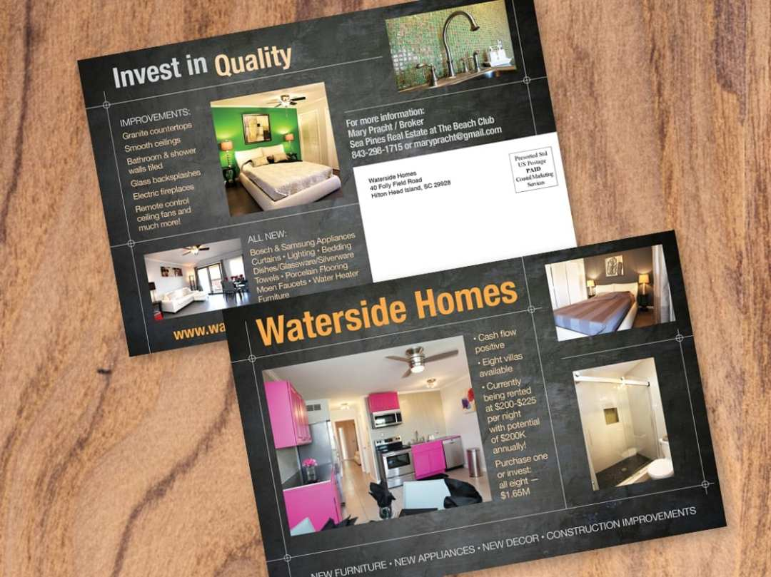 Direct Mail Card for Waterside Homes