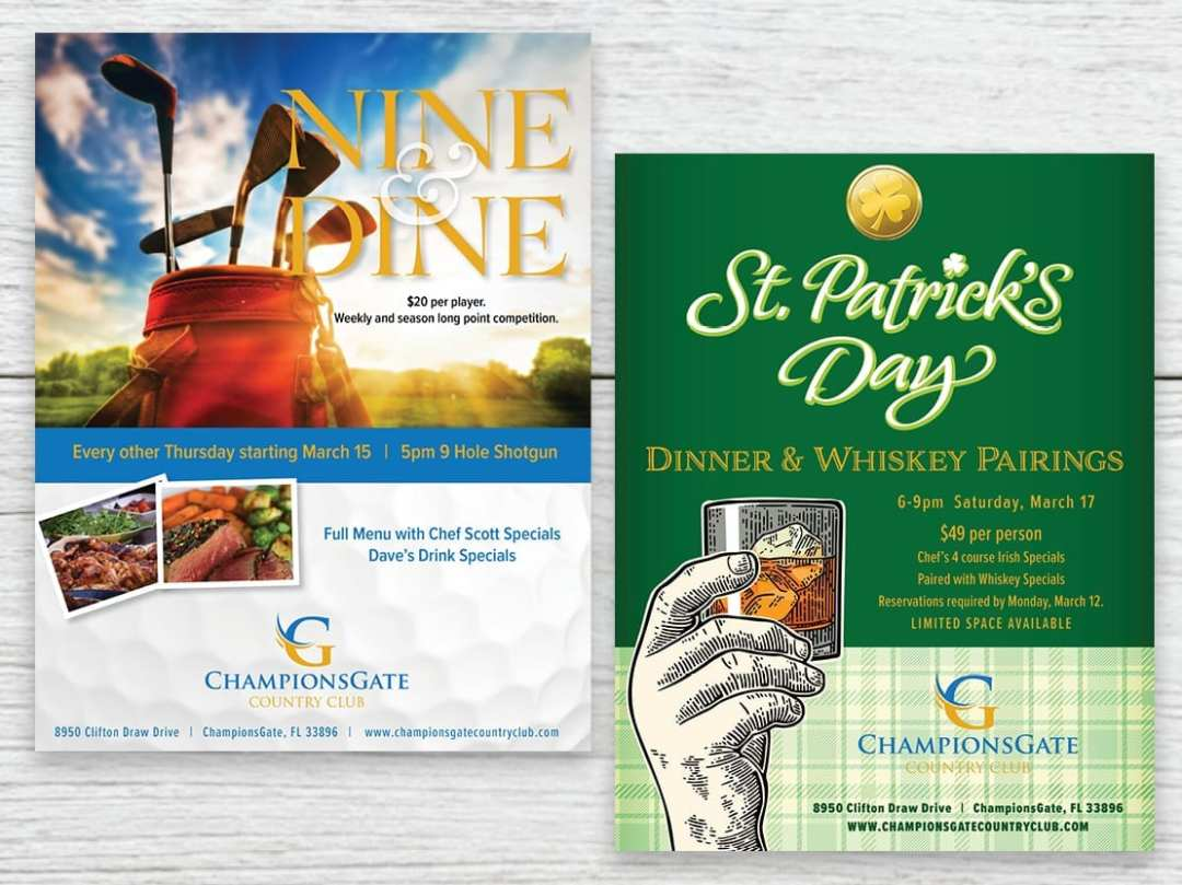 Fliers for ChampionsGate Country Club