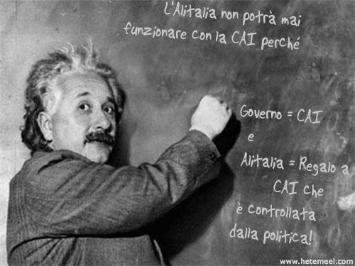 Anche Einstein espresse un parere su Alitalia