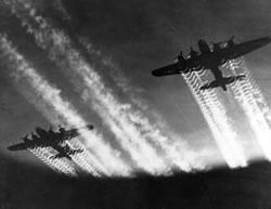 Scie non chimiche lasciate da B17 durante la II^ guerra mondiale