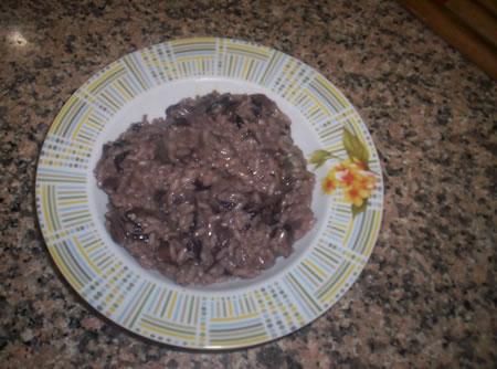 Il risotto al radicchio e gorgonzola