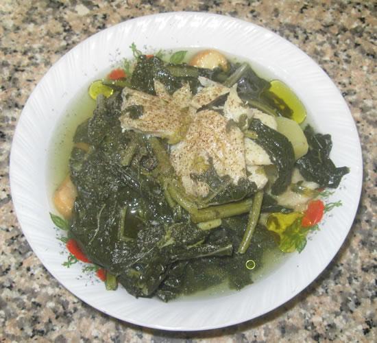 Zuppa di cavoletti e baccalà