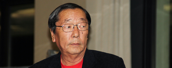 Masaru et Emoto au congrès d'Anglet Septembre 2011, photo Serge Briez