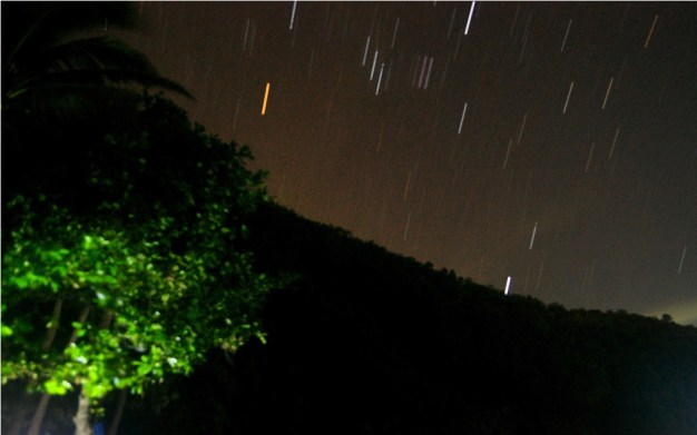 My first attempt at capturing star trails above Kwebang Lampas Beach Cove in Pagbilao, Quezon