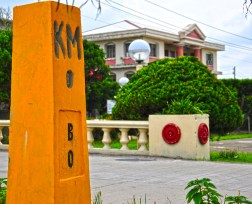 Located at the heart of Basco, fronting the Casa Real, this sign marks the spot where all distances in the whole Batanes Isles is measured from.