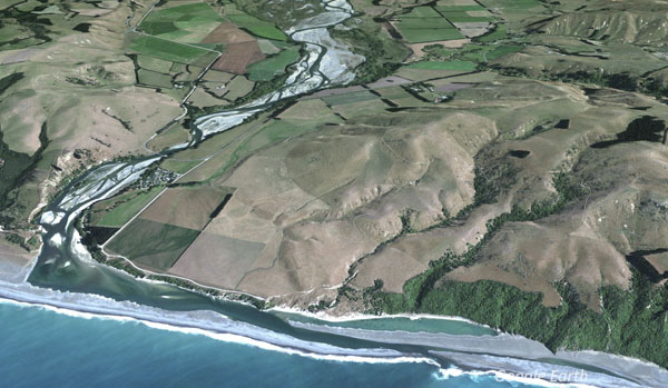 Hurunui River mouth and hapua