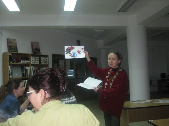 Întâlnirea membrilor Atelierului de pictură pentru Adulti
