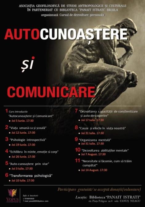 O serie de cursuri de autocunoaştere la Biblioteca Judeteana Panait Istrati Braila