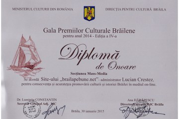 Gala Premiilor culturale brailene
