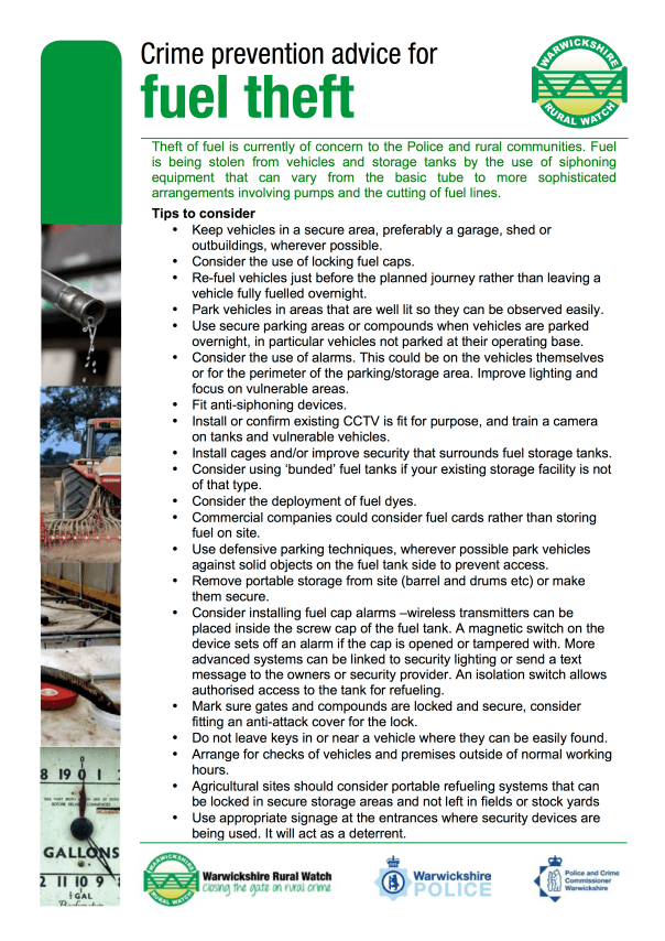 Fuel Theft Advice Sheet