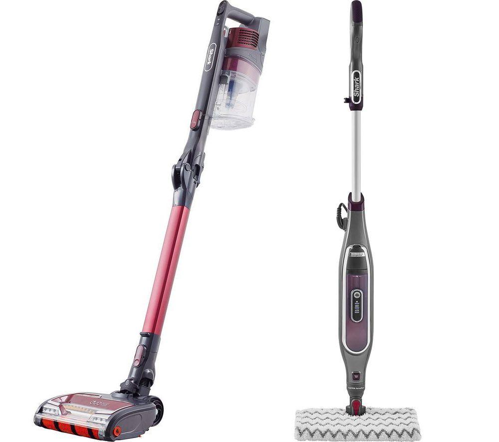 flexology true pet anti hair wrap iz251ukt cordless vacuum cleaner klik n flip steam mop bundle red
