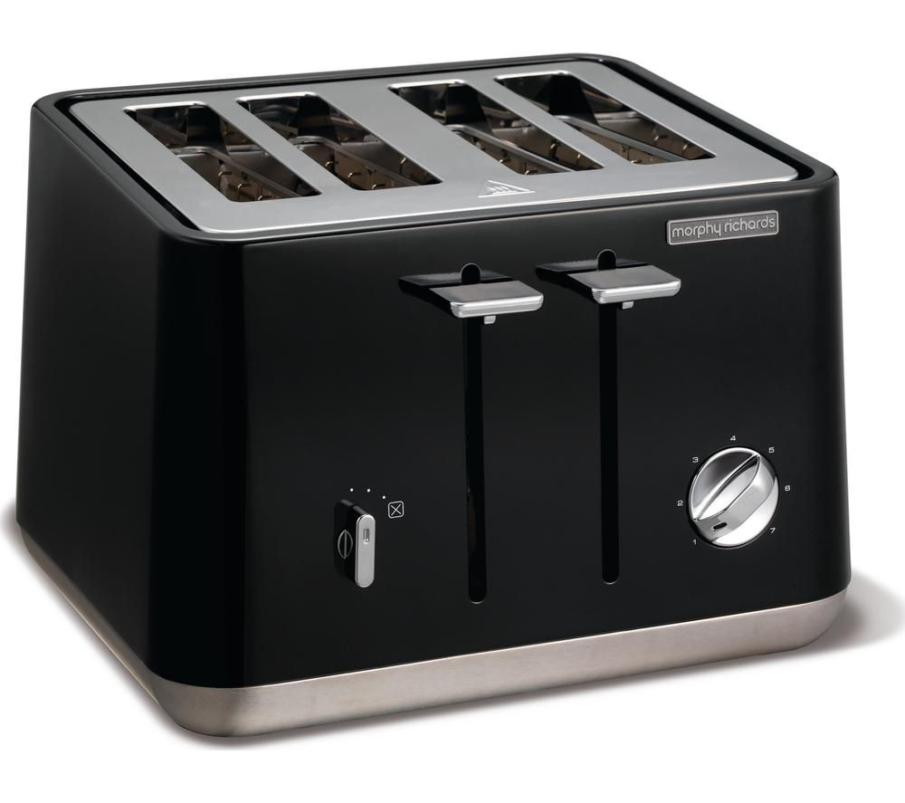 Buy MORPHY RICHARDS Aspect 240002 4 Slice Toaster Black Free Delivery Currys