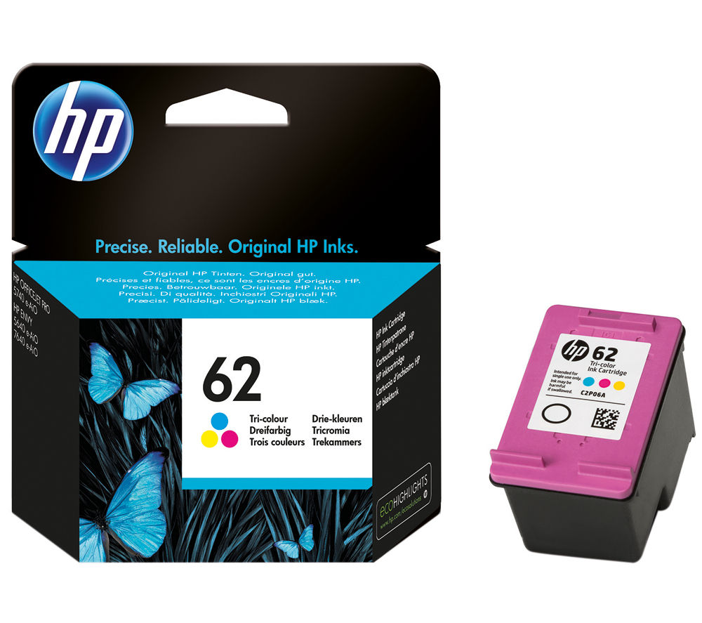 Buy Hp 62 Tri Colour Ink Cartridge Free Delivery Currys