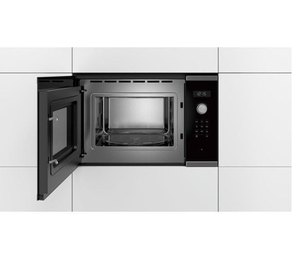 bosch serie 6 bfl554ms0b built in solo microwave stainless steel
