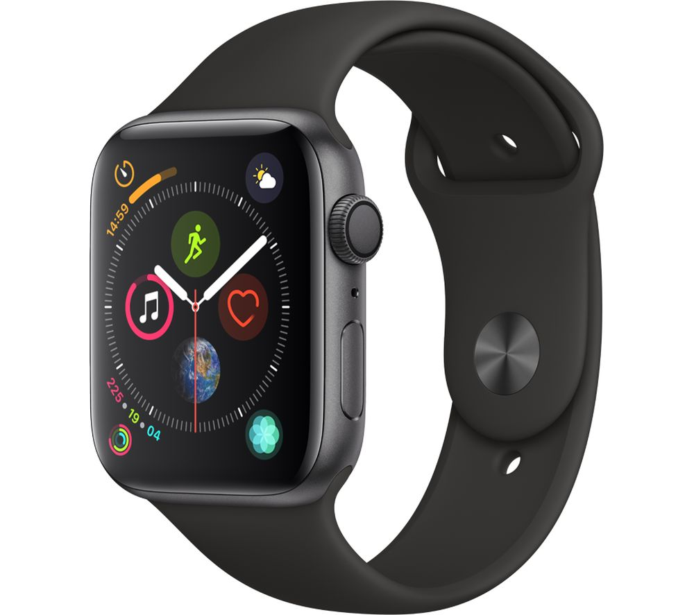 Buy Apple Watch Series 4 Space Grey Amp Black Sports Band