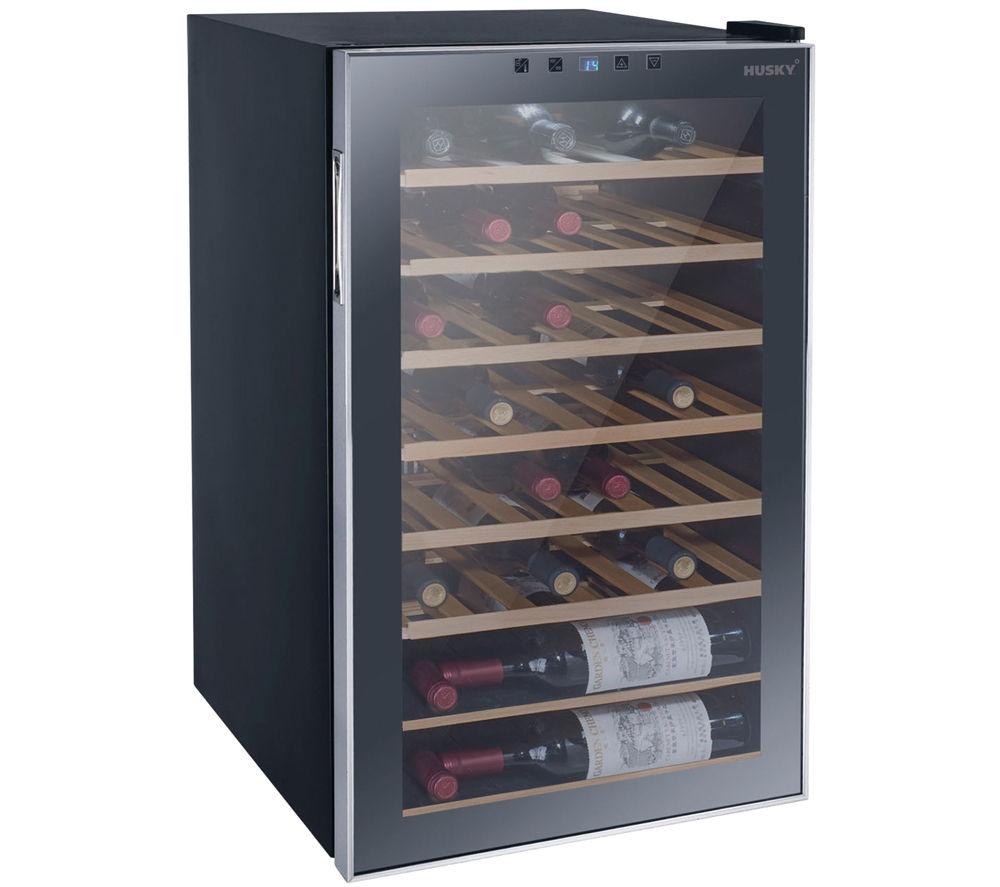 Buy HUSKY Reflections HUS HN10 Wine Cooler Black Free