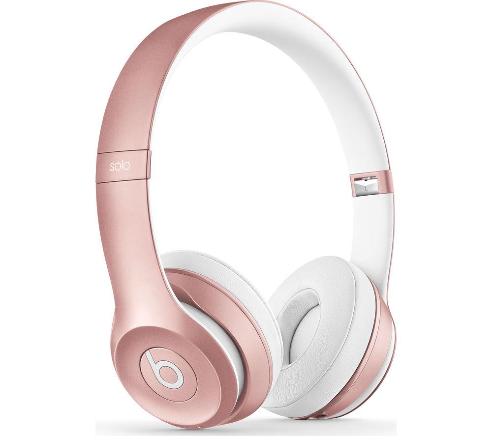 BEATS Solo 2 Wireless Bluetooth Headphones - Rose Gold