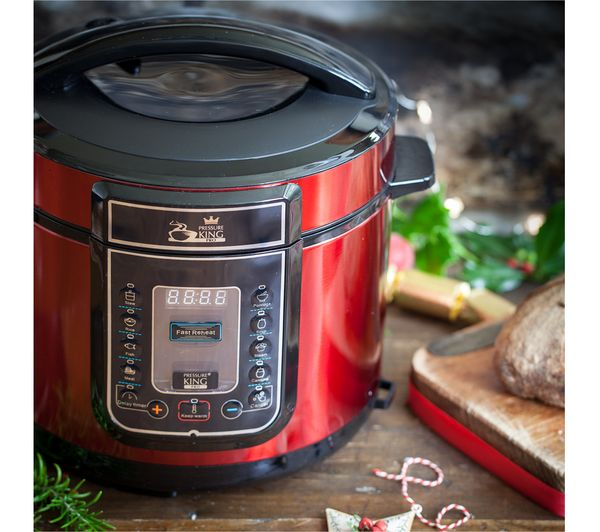 Buy PRESSURE KING Pro Digital Pressure Cooker Red Free Delivery Currys
