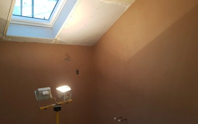 There is plaster going on here!
