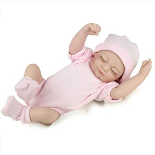 PENSON & CO. Reborn Newborn Baby Realike Doll Handmade Lifelike Silicone Vinyl Weighted Alive Doll for Toddler Gifts 10""