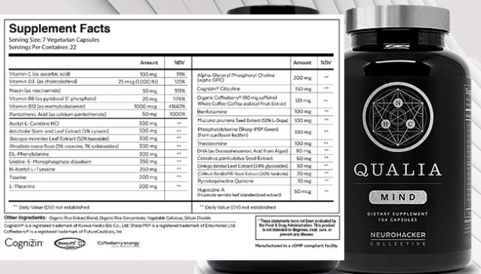 best nootropics ingredient in Qualia Mind supplement