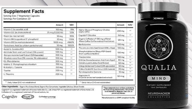 best nootropics ingredient in Qualia Mind supplement