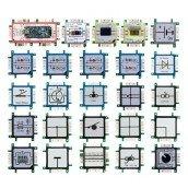 Brick'R'knowledge LED dual grün & blau Signal durchverbunden