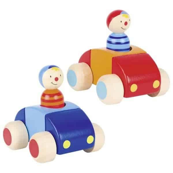 Fahrzeuge mit Männchen und Hupe