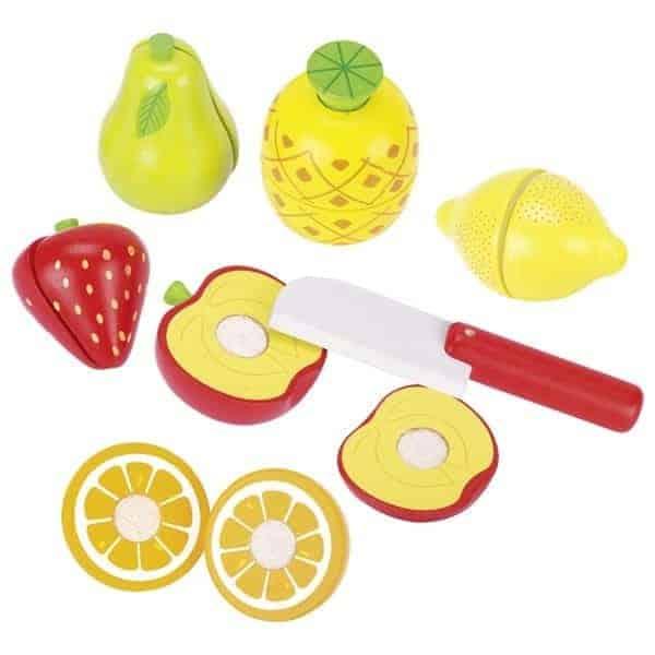 Obst mit Klettverbindung