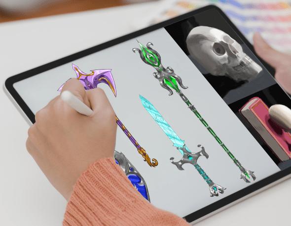 Game Graphic Design, Illustration, 2D Art, 3D Modelling