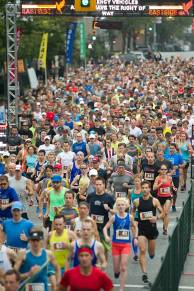 1500 runners for the inaugural Vancouver Eastside 10K. Photo courtesy Canadian Running Series.