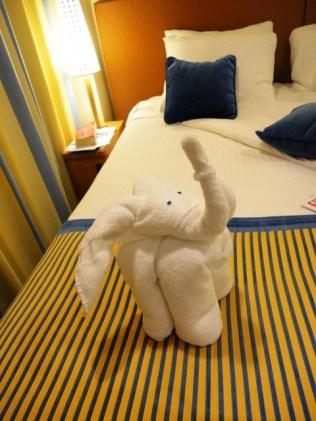 Towel animial: Elephant!