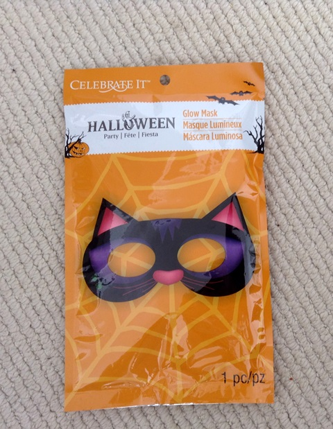 Glow-in-the-dark cat mask