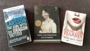 The Girl with the Dragon Tattoo, Pride and Prejudice and Zombies, and Dead Until Dark (aka True Blood)