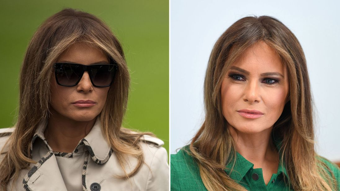 Conspiracy Theorists Claim First Lady Melania Trump Has ...