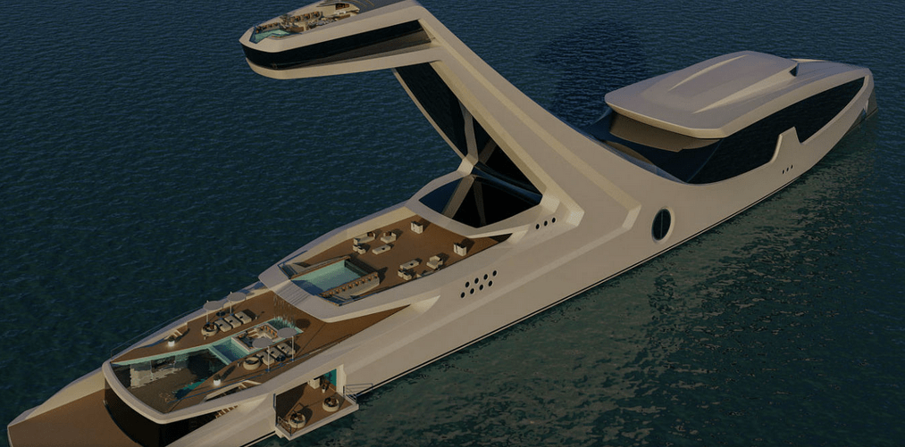 This Concept 'Superyacht' That Comes Equipped With An Infinity Pool Is Vacation Goals To The Max