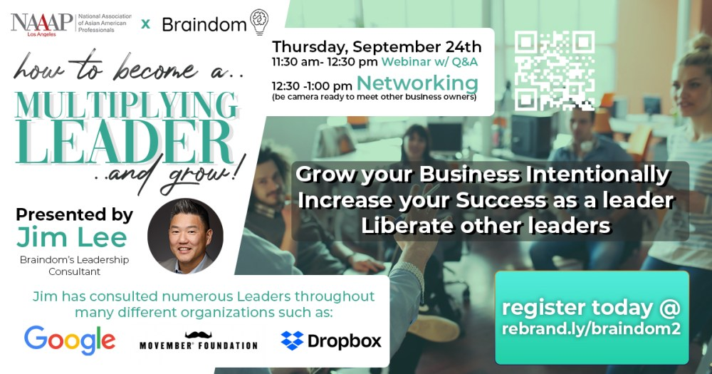 Flyer of September 24 Webinar How to be a Multiplying Leader and grow
