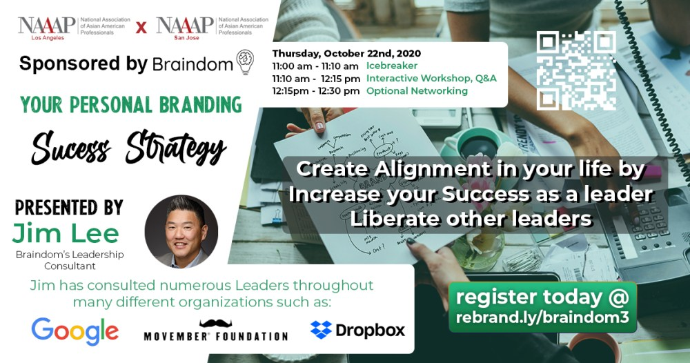 Oct 22 Your personal branding success strategy workshop/webinar