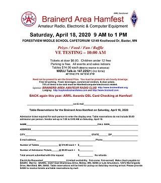 2020 BAARC Hamfest Flyer