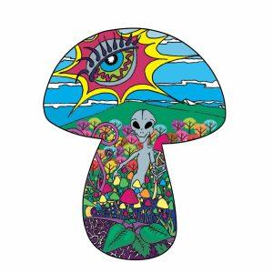 Alien mushroom picker design