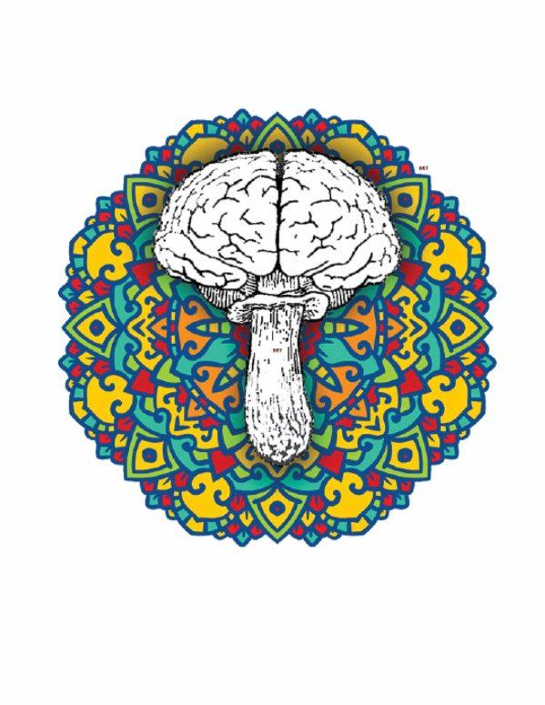 mandela mushroom design