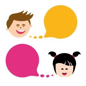 Kinder niedlich sprechen - Clipart